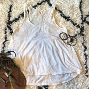 Aerie American Eagle White Tank Top